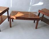 Suite of 1920's Modernist Occasional Tables Designed by Franz Seifert. Bauhaus Era. German. Vienna.