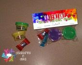 INSTANT DOWNLOAD -Digital File - Doh-riffic Valentine Treat Bag Topper- Printable