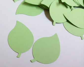 """120 Green paper Leaves Die Cut  1.6""""in x 1 """" inches,Scrapbooking, Tags."""