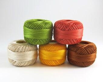 Sherbert Pearl Cotton Thead Set - 5 Color Finca Perle Cotton Thread Set