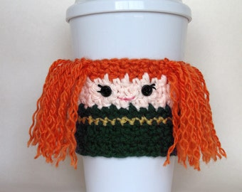 Crochet Merida Inspired Brave Coffee Cup Cozy