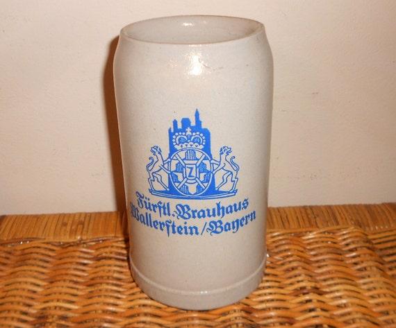 Vintage German Beer Stein 1 Liter Ceramic By Teardropcurio