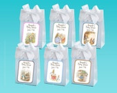 Personalized Peter Rabbit baby shower favor boxes - baby boy shower favors, baby shower favor box - set of 12