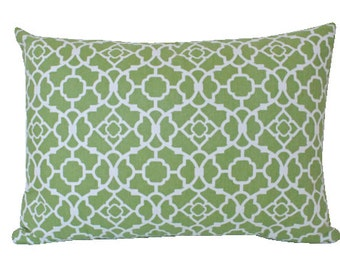 Decorative Green Geometric Lumbar Pillow