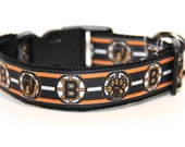 Dog Collar Boston Bruins, FREE SHIPPING, Boston Bruins, Dog Collar