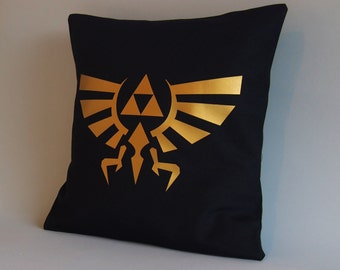 Legend of Zelda Pillow cover - Throw pillow Zelda -16 x 16 18 x 18 - Gold pillow - Legend of Zelda cushion