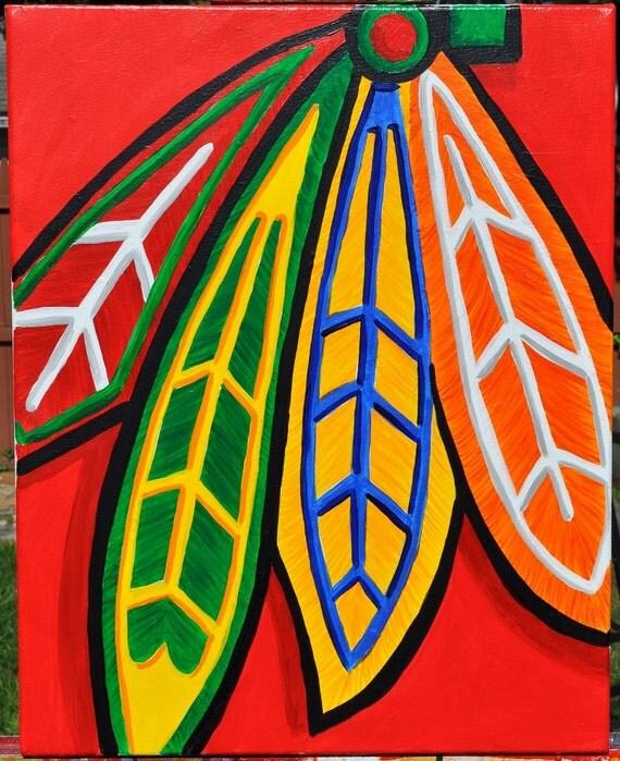 chicago blackhawks feathers fine art
