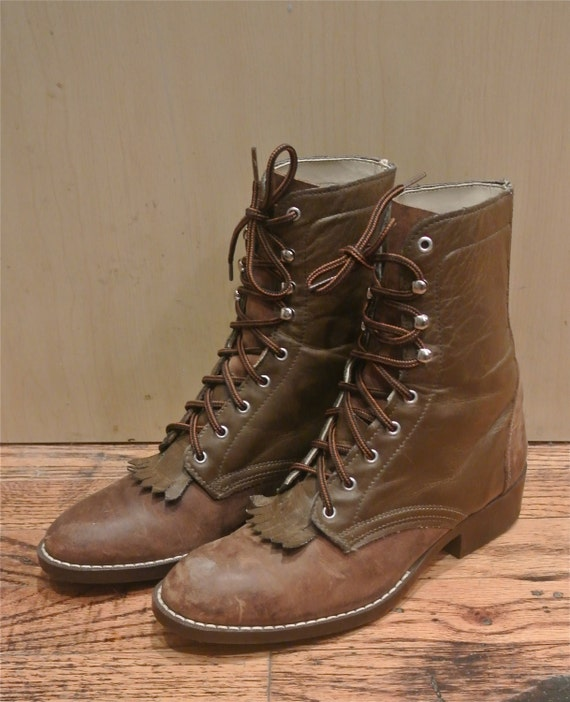 Womens Leather Lace Up Boots - Cr Boot