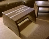 Step Stool, Footstool - Personalized Hand-inlaid Wooden Step Stool for Children