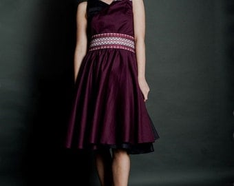 Fashion embroidered dress. Ukrainian Women's dress, Vyshyvanka, Stylish embroidery dress. Ukrainian Modern embroidered dress, Holiday dress