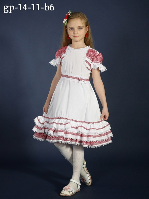 Ukrainian Embroidery Dress For Girls Dress And Bolero Dress