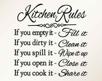 rules and guidelines of the kitchen