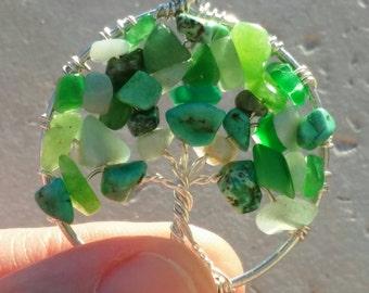 Irish Eyes Wire Wrapped Tree of Life