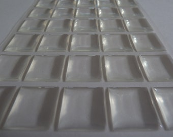 25 x  Scrabble tile size Pu (polyurethane) stickers