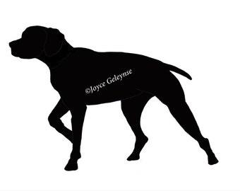 Pointer dog drawing – Etsy