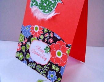 Hand made cards: Stampin Up - Mothers Day - coral - embossed - dove - pretty colors - handmade - hand stamped - Wcards