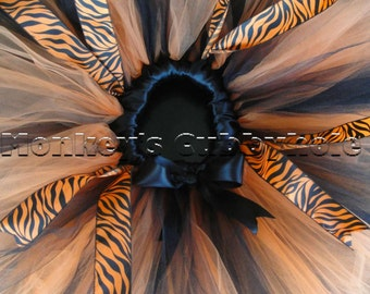 Brilliantly Orange Zebra Tutu