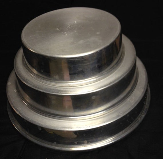 round wedding cake pans wedding cake pans 3 tier cake pans mirro by rusticbuckets 7145