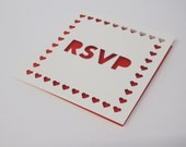 Wedding RSVP heart card