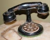 Antique Depression Era Toy Telephone Child's Toy Phone BETTY DAVIS Style!