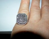Retro Marcasite Ring Sterling Silver Art Deco Marcasite Ring Size 5