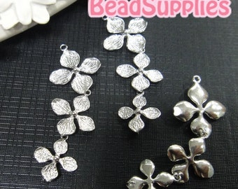 CH-ME-09306-Silver plated, Butterfly flower set, 2 sets
