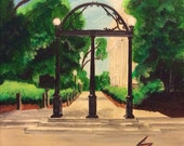 University of Georgia Arch  - Original Painting on 12 x 12 Gallery Wrap - Introductory SALE price