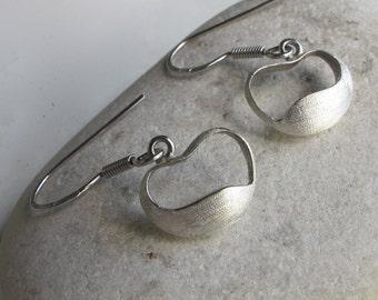 Organic HEART Earring- Silver Heart Earring- Heart Shaped Earring- Heart Earring- Classic Earring- Everyday Earring