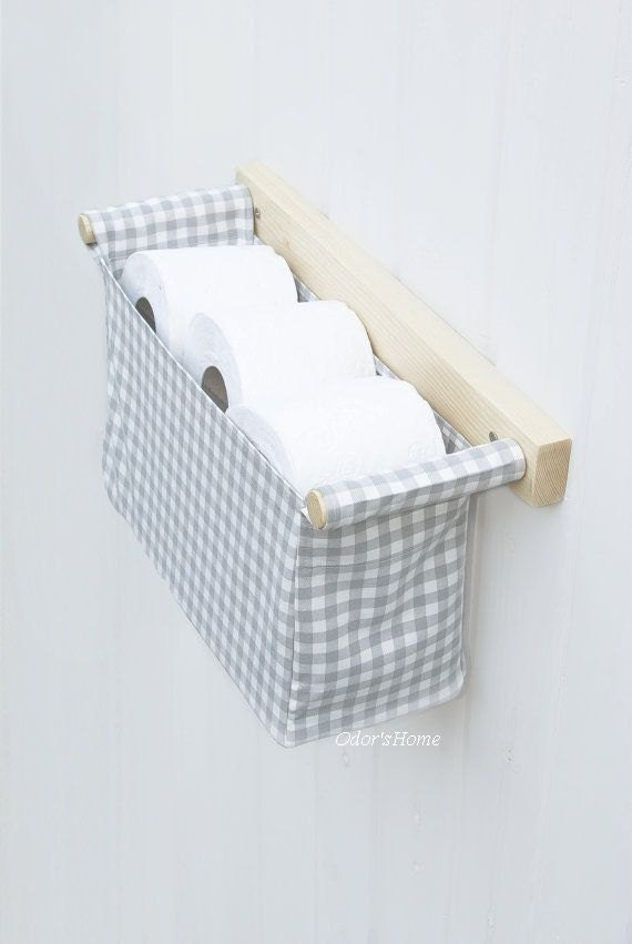 Wall Mounted Toilet Paper Organizer Bathroom Storage Over