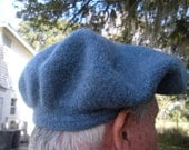 Outlander felted, wool hat.  This hat / beret / tam / cap / bonnet is similar to the one worn by Dougal in the Outlander TV show.