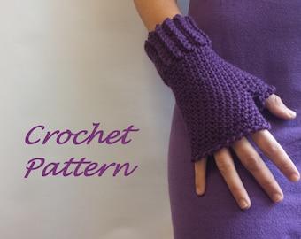 Fingerless Gloves Crochet Pattern. PDF 054.