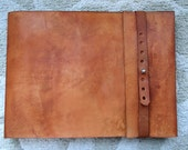 Leather Sketchbook, Refillable Sketchbook, Large, sketchbook cover  - Straight Edge Flap, Journal, Drawing Book, Leather  Bound, Guest Book