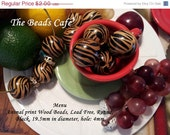 ON SALE Basketball Wives Animal Print Wood  Beads 19mm