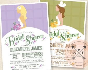 Blushing Bride - DIY Bridal Shower Invitation