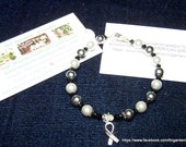Brain Cancer Awareness HOPE Bracelet  7 inches  Item TLC-MBC-M7
