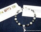 Brain Cancer Awareness HOPE Bracelet  7 inches  Item TLC-MBC-M7