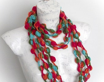 Colorful Chain scarf, infinity scarf,spring accessories,gift under 20 for women fall fashion winter