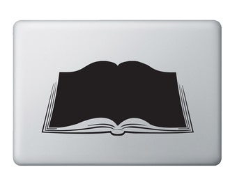 """Open Book Reading No Apple Cut Out Vinyl Decal/Sticker, Fits 11""""/13"""" Air and 13""""/15"""" MacBooks hs0018"""