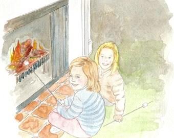 Toasting Marshmellows - Pixie Vignettes