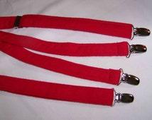 Infant Suspenders - Boy's Red Flannel Suspendeers - Children's Suspenders - For The Little Guy Suspenders - child's suspenders -