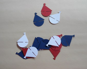Nautical Party Confetti- Sailboat Table Confetti- Nautical Baby Shower Confetti