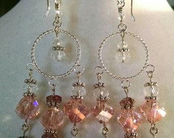 Swirl in Pink Earrings
