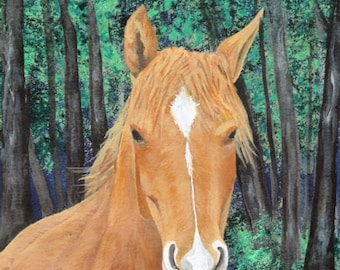 "Horse Art Print - ""Brady"""