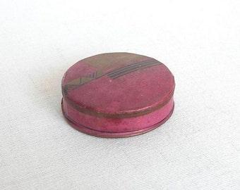 Antique French Powder Box MOUSON. Compact Powder, French Powder Box