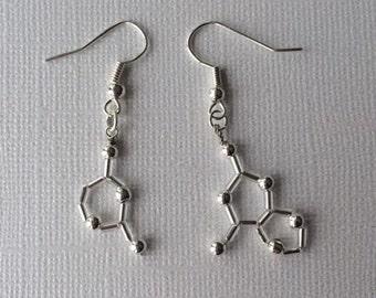 Biolojewelry - MINI Asymmetrical DNA Base Pair Earrings - Guanine & Cytosine