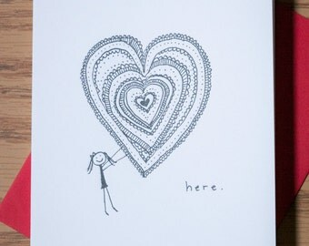 JK Etceteras Heart I Love You Letterpress Card