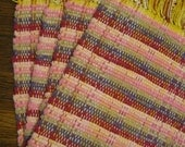 Handwoven Placemats in Magenta, Purple, Gray, and Rose