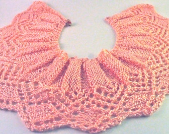 FREE SHIPPING - Pink Lace Peter Pan Collar