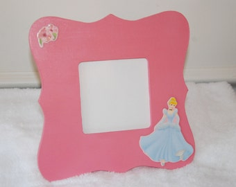 Cinderella picture frame, princess picture frame, girl's room, room decor, nursery decor, baby girl, baby shower gift, birthday girl
