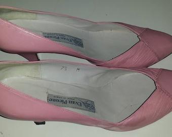 Reduced! Vintage Evan Picone Pink Kitten Heels